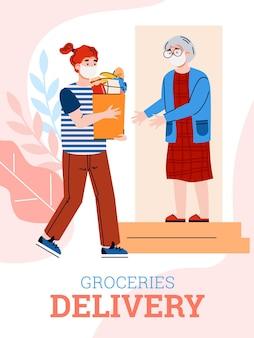 Livraison volontaire de nourriture aux personnes âgées en quarantaine
