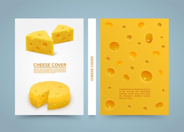 Livre de bannière de fromage flyer. papier de format a4, élément de conception de modèle, fond de vecteur