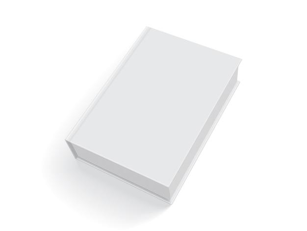 Livre blanc avec une couverture épaisse isolé sur fond blanc