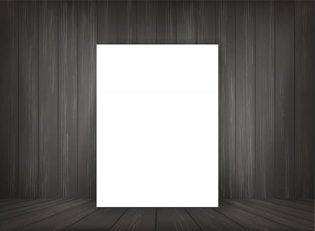 Livre blanc dans le fond de l'espace de la pièce sombre.