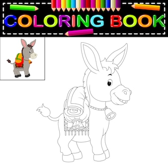 Livre de coloriage d'âne