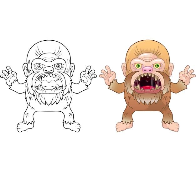 Livre de coloriage bigfoot en colère