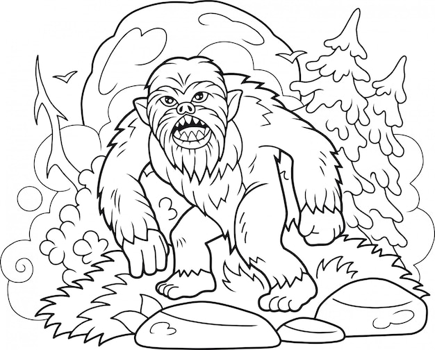 Livre de coloriage bigfoot