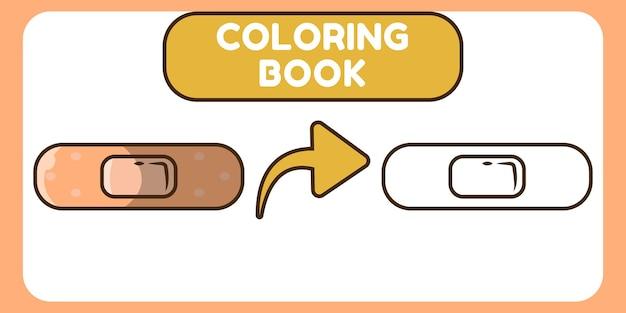 Livre de coloriage doodle dessin animé mignon plâtre dessinés à la main pour les enfants