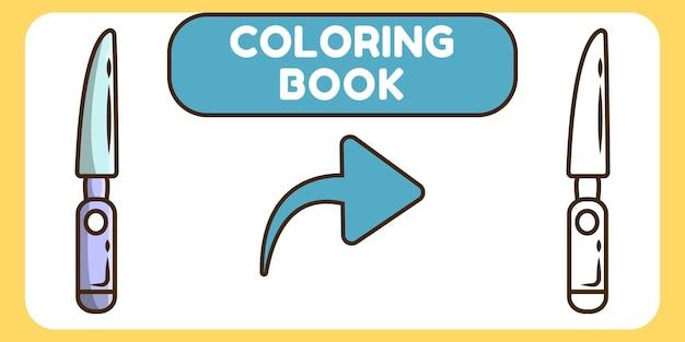 Livre de coloriage doodle dessin animé mignon scalpel dessinés à la main pour les enfants