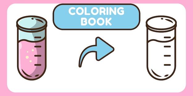 Livre de coloriage de doodle de dessin animé mignon tube dessiné à la main pour les enfants