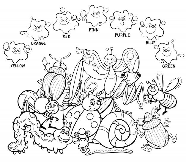 Livre de coloriage éducatif de couleurs principales