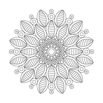 Livre de coloriage de fleurs de mandala pour les adultes se détendre.