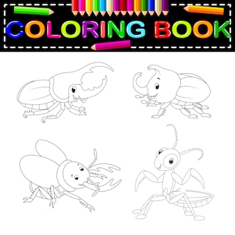 Livre de coloriage d'insectes