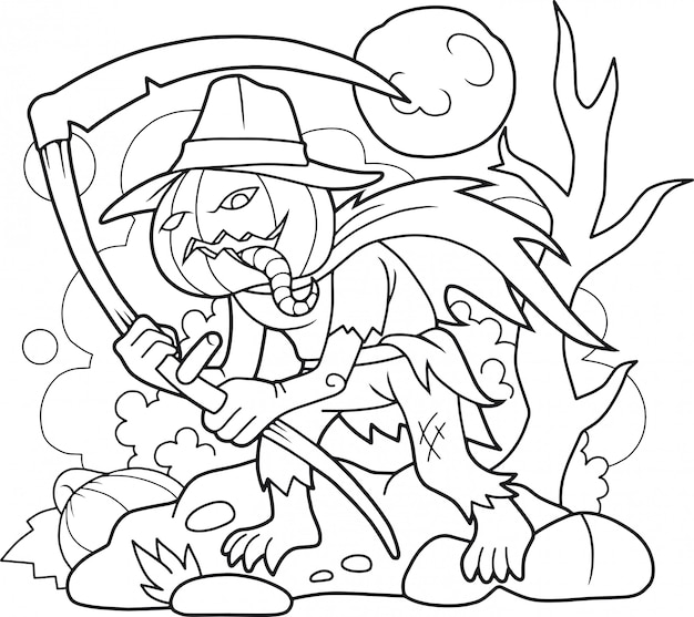 Livre de coloriage jack lantern