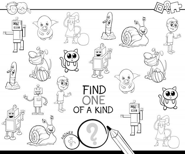 Un livre de coloriage de jeu de dessin animé aimable