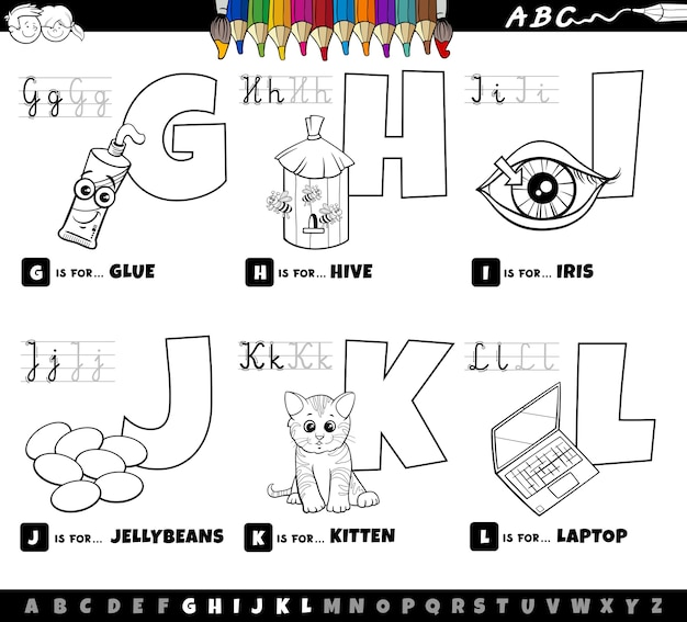 Livre de coloriage jeu de dessin animé éducatif alphabet