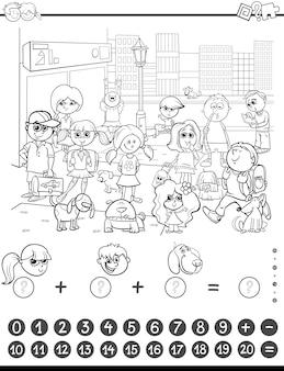 Livre de coloriage de jeu de maths