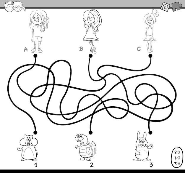 Livre de coloriage labyrinthe