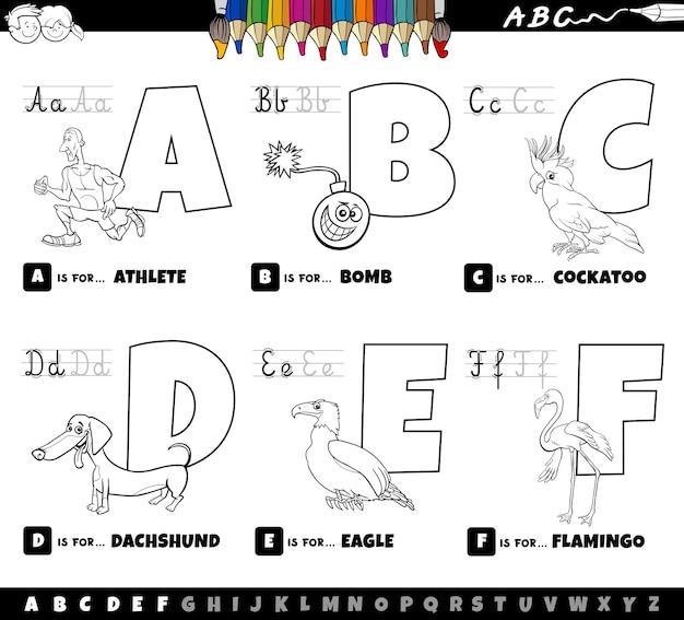 Livre de coloriage de lettres de l'alphabet éducatif pour les enfants