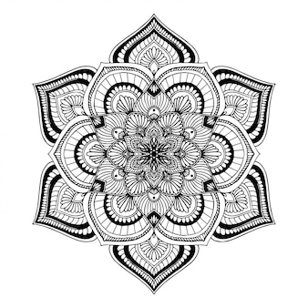 Livre de coloriage mandala, doodle de yoga oriental