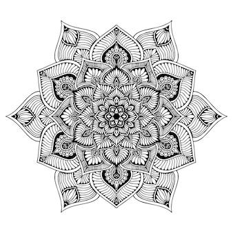 Livre de coloriage mandalas, thérapie orientale, logos de yoga vector.