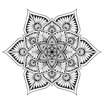 Livre de coloriage de mandalas, thérapie orientale, vecteur de logos de yoga.