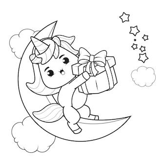 Livre de coloriage de noël avec une jolie licorne21