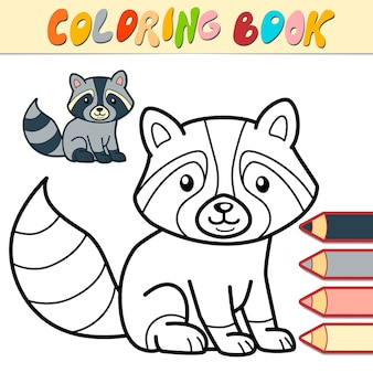 Livre de coloriage ou page pour les enfants. illustration de blaireau noir et blanc