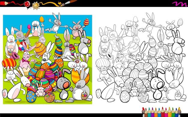 Livre de coloriage de personnages de pâques