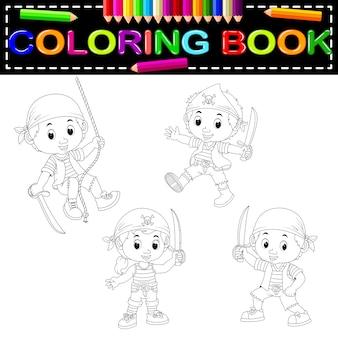 Livre de coloriage pirate