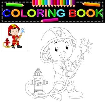 Livre de coloriage pompier