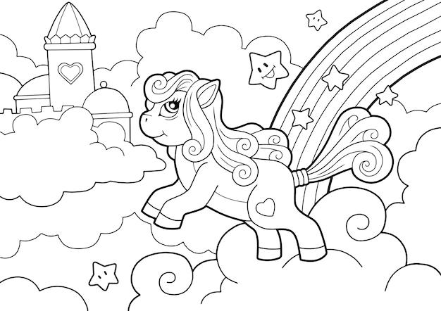 Livre de coloriage poney