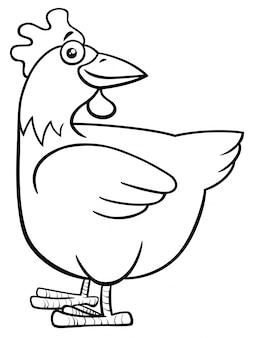 Livre de coloriage poule poule ou personnage de ferme