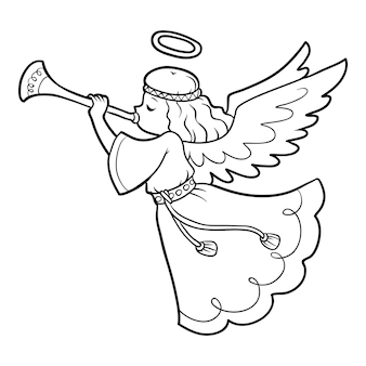 Livre de coloriage pour des enfants, ange