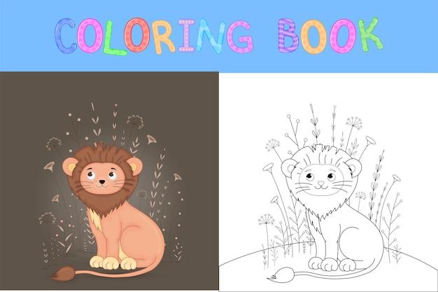 Livre de coloriage pour enfants avec des animaux de dessin animé