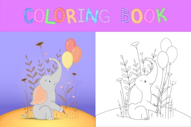 Livre de coloriage pour enfants avec des animaux de dessin animé.