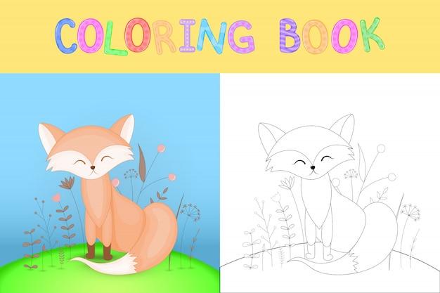 Livre de coloriage pour enfants avec des animaux de dessins animés