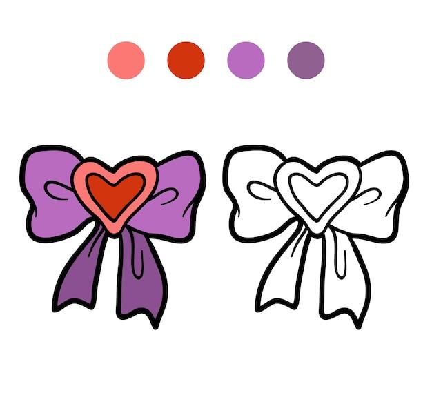 Livre de coloriage pour les enfants, bow
