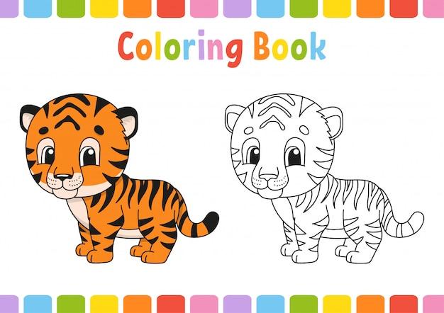 Livre de coloriage pour les enfants. caractère gai. illustration vectorielle. style de dessin animé mignon.
