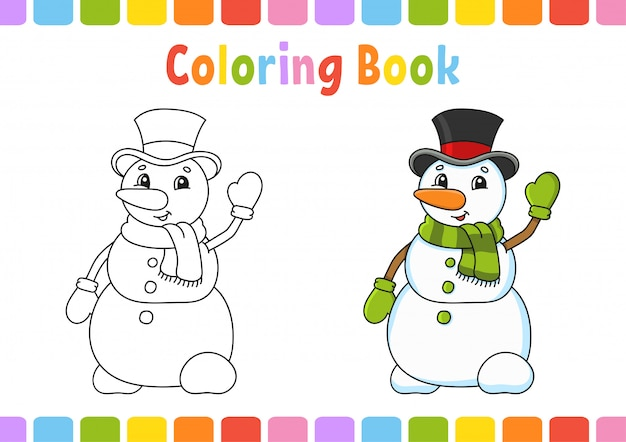 Livre de coloriage pour les enfants. caractère gai. illustration vectorielle.