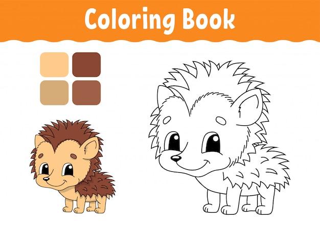 Livre de coloriage pour les enfants. caractère gai.