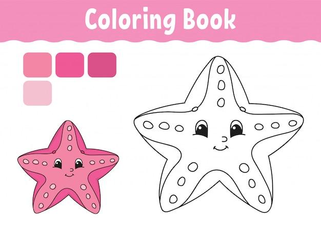 Livre de coloriage pour les enfants. caractère joyeux.