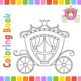 Livre de coloriage pour les enfants caractère joyeux