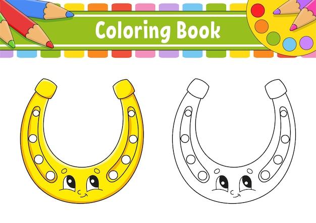 Livre de coloriage pour les enfants. le jour de la saint-patrick. personnage de dessin animé.