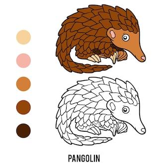 Livre de coloriage pour les enfants, pangolin