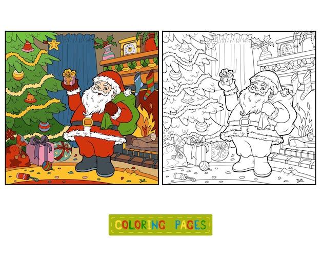 Livre de coloriage pour les enfants, père noël