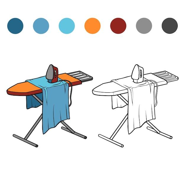 Livre de coloriage pour les enfants, planche à repasser