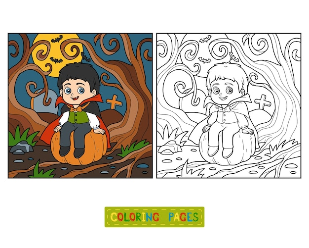 Livre de coloriage pour des enfants, vampire