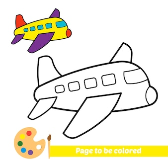 Livre de coloriage pour vecteur avion enfants