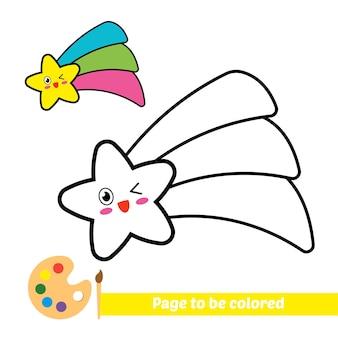 Livre de coloriage pour le vecteur d'étoile d'enfants