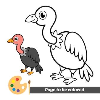 Livre de coloriage pour vecteur de vautour enfants