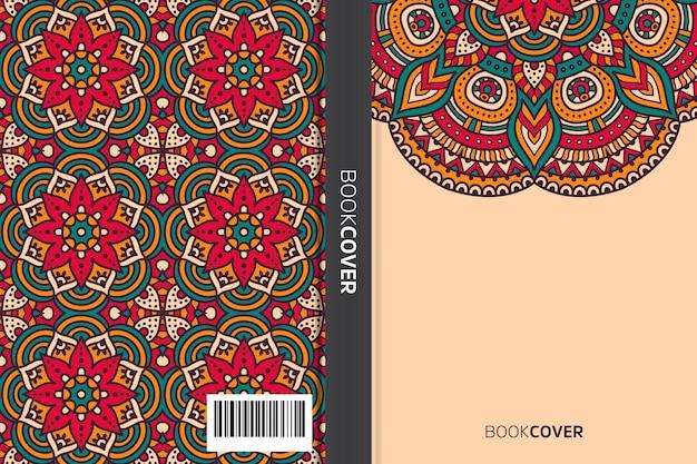 Livre de couverture avec la conception d'éléments de mandala