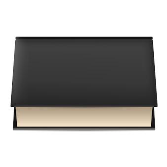 Livre à couverture noire.