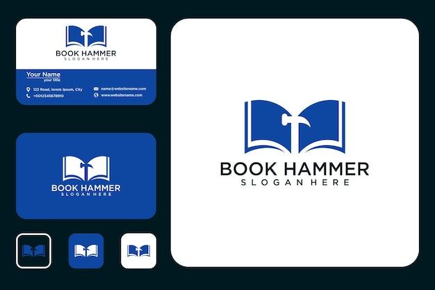 Livre avec création de logo de marteau et carte de visite